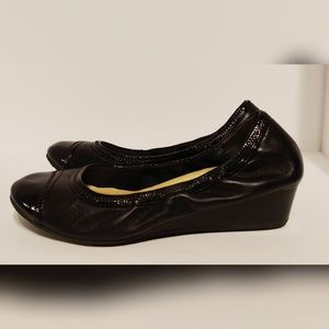 Cole Haan Nike air black wedges 7.5 womens